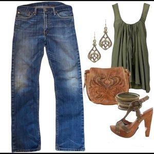 Vintage🧚♀️Levi's 513 distressed jeans size 32
